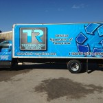 Our NEW blue truck on the streets