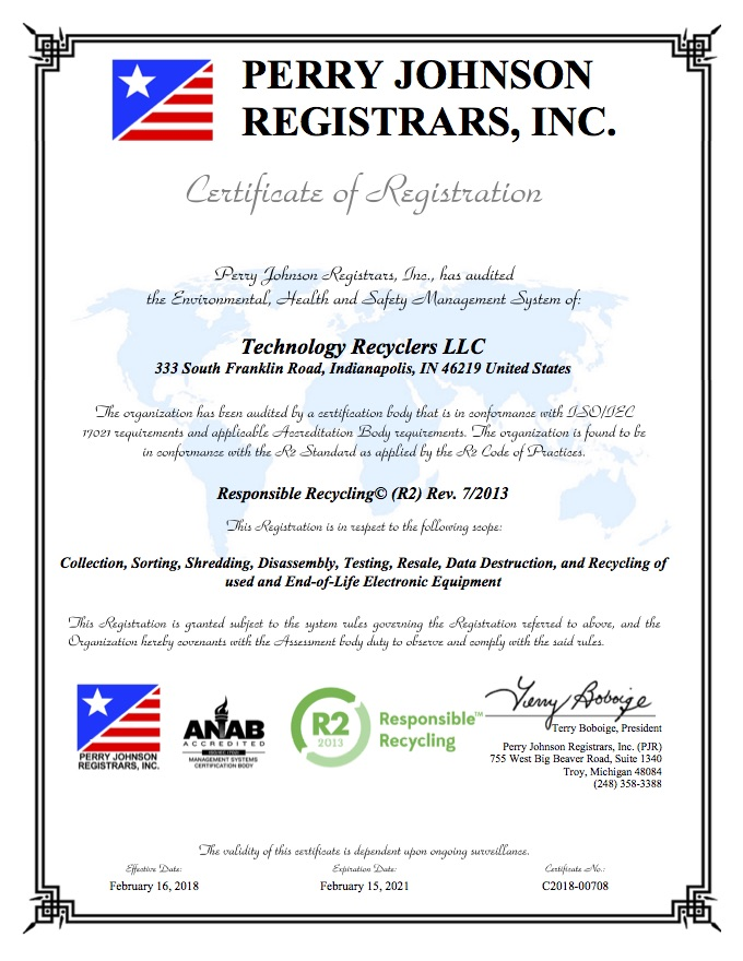 Responsible Electronic Recycling Policies Technology Recyclers
